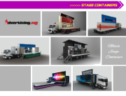 advertising stage containers led truck