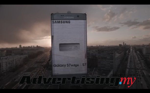 Samsung launches mega-huge billboard ad for S7 Galaxy Edge