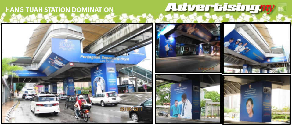Jalan Hang Tuah Monorail Station Domination Malaysia advertising Rate