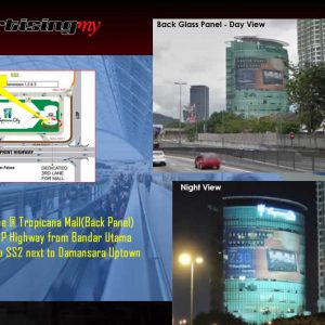 Tropicana wallscape Petaling Jaya billboard back Panel