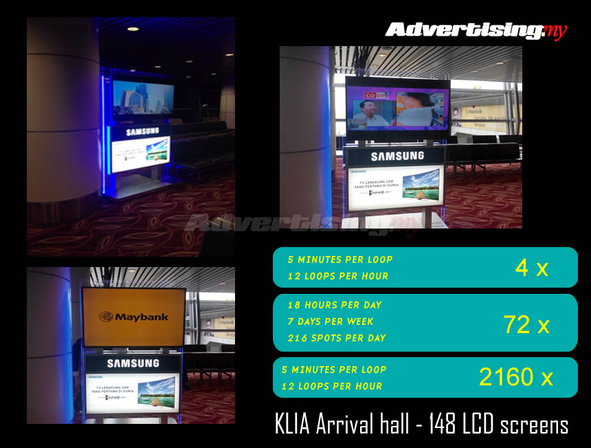 klia digital 148 screens Rate