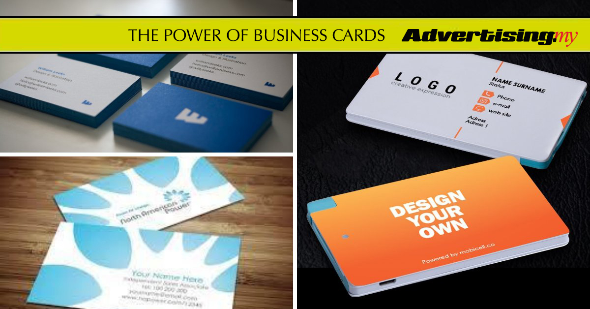 THE POWER OF BUSINESS CARDS