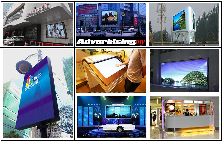 digital led screen indoor outdoor advertising