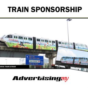 Monorail Train Sponsorship Wrap