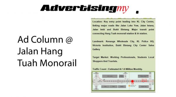Ad-Column-Jalan-Hang-Tuah-Monorail-Advertising-Rate-