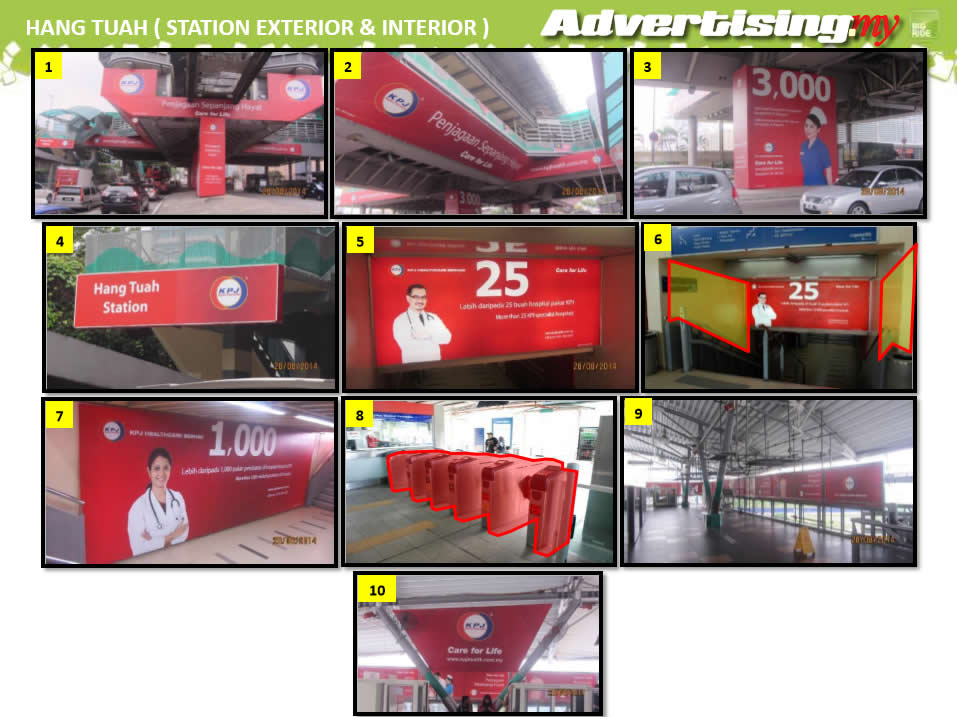 Jalan Hang Tuah monorail interior and exterior Advertising