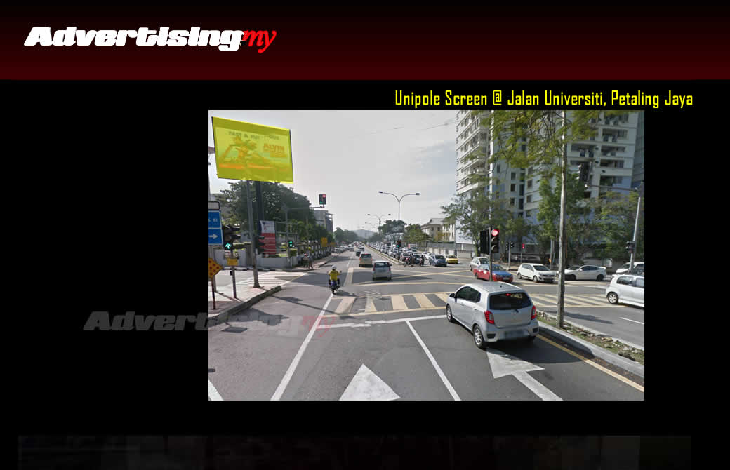 Jalan Universiti Digital screen Petaling Jaya