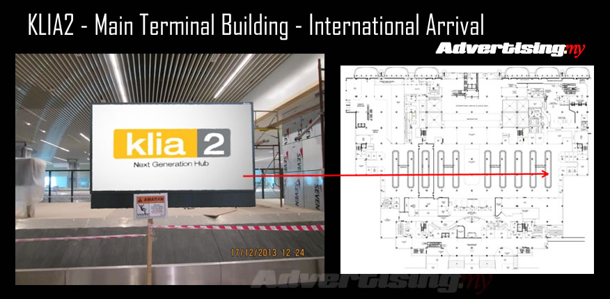 KLIA2 Main Terminal Building - International Arrival Carousel Rate