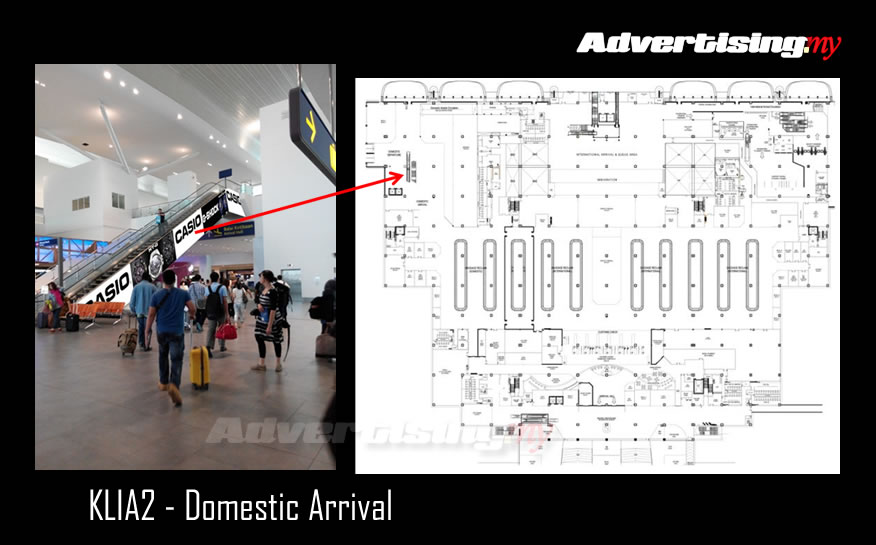 KLIA2 domestic 5x50 feet Escalator Rate