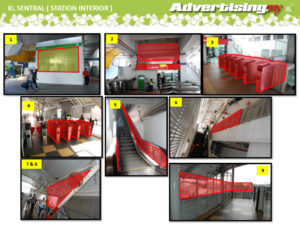 Sentral monorail interior malaysia advertising