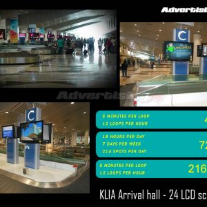 Klia digital - 24 screens Rate