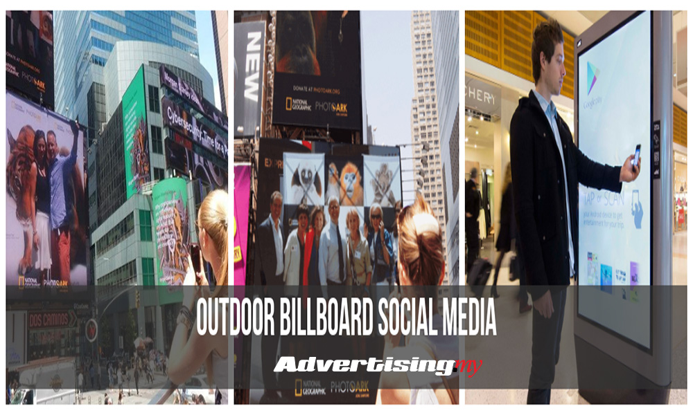The Co-relation and integration of billboards to social media and mobile platforms