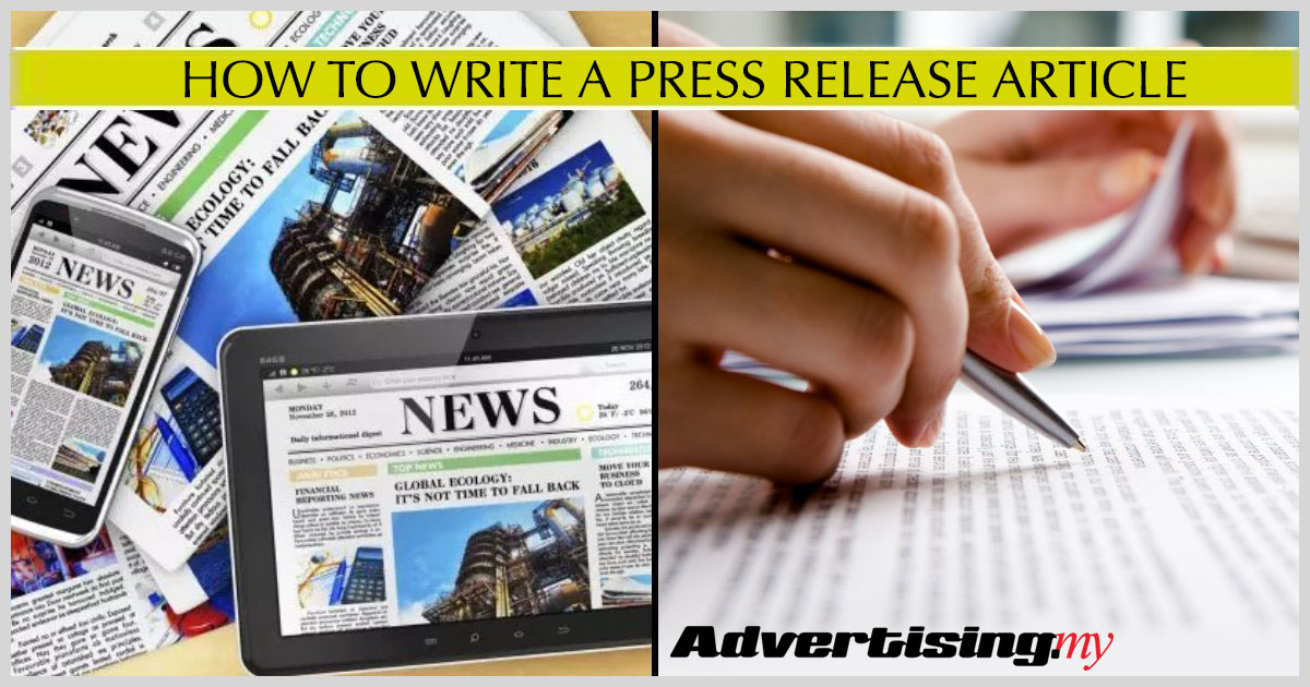 HOW TO WRITE A PRESS RELEASE ARTICLE